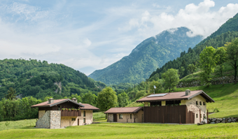 Chalet romantici in montagna in Val Camonica, Lombardia